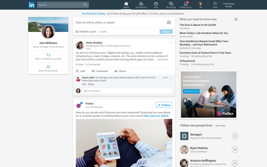 LinkedIn-New-Feed